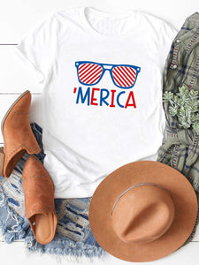 America Flag Glasses T-Shirt