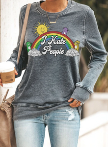 I Hate People Rainbow Tee