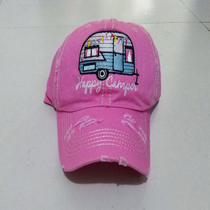 Happy Camper Baseball Cap