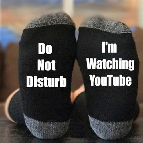 I'm Watching YouTube Socks
