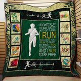 Run To Be Strong And Free Blanket Quilt