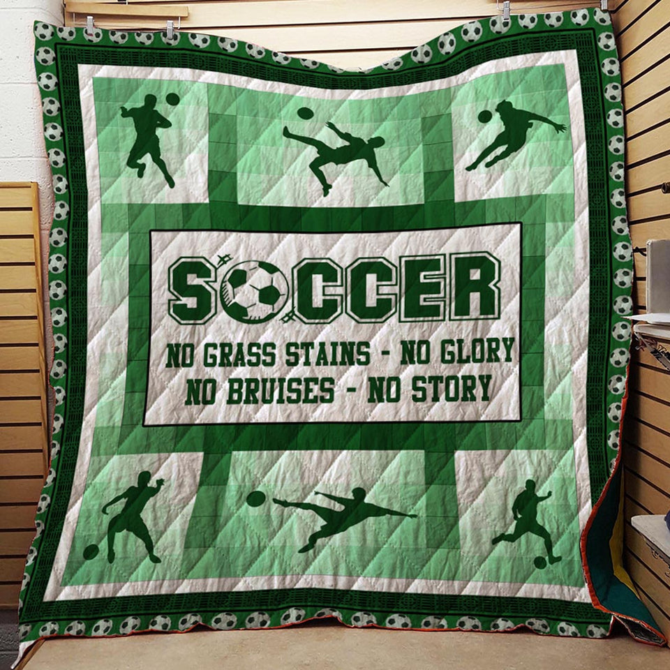 Soccer No Story Blanket Quilt