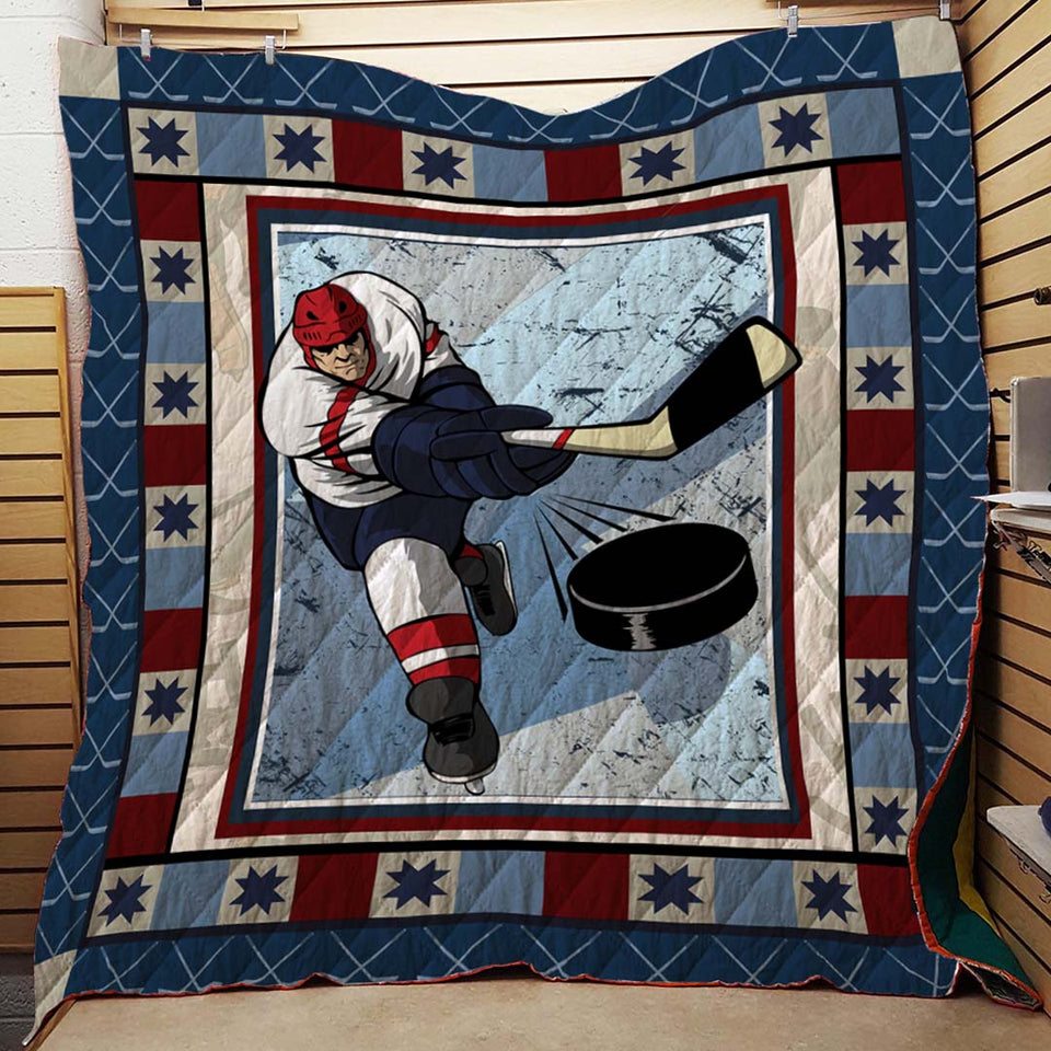 Ice Hockey Blanket Quilt