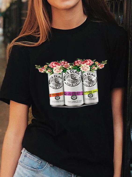 White Claw Hard Seltzer Floral T-Shirt