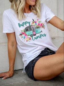 Happy Camper Floral T-shirt