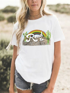 Road To Nowhere Cactus T-Shirt