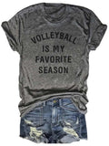 [PRE-SALE] Volleyball Is My Favorite Season Gray Tee