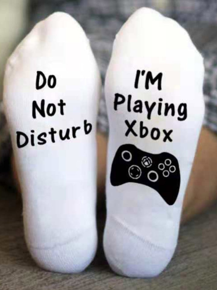 Do Not Disturb I'm playing Xbox Socks