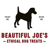 Beautiful Joe's natural liver dog treats. Dog charity donation