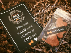 Handmade dog biscuit sent with love