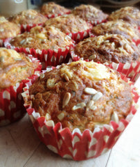 Cheese & Carrot Dog Muffins