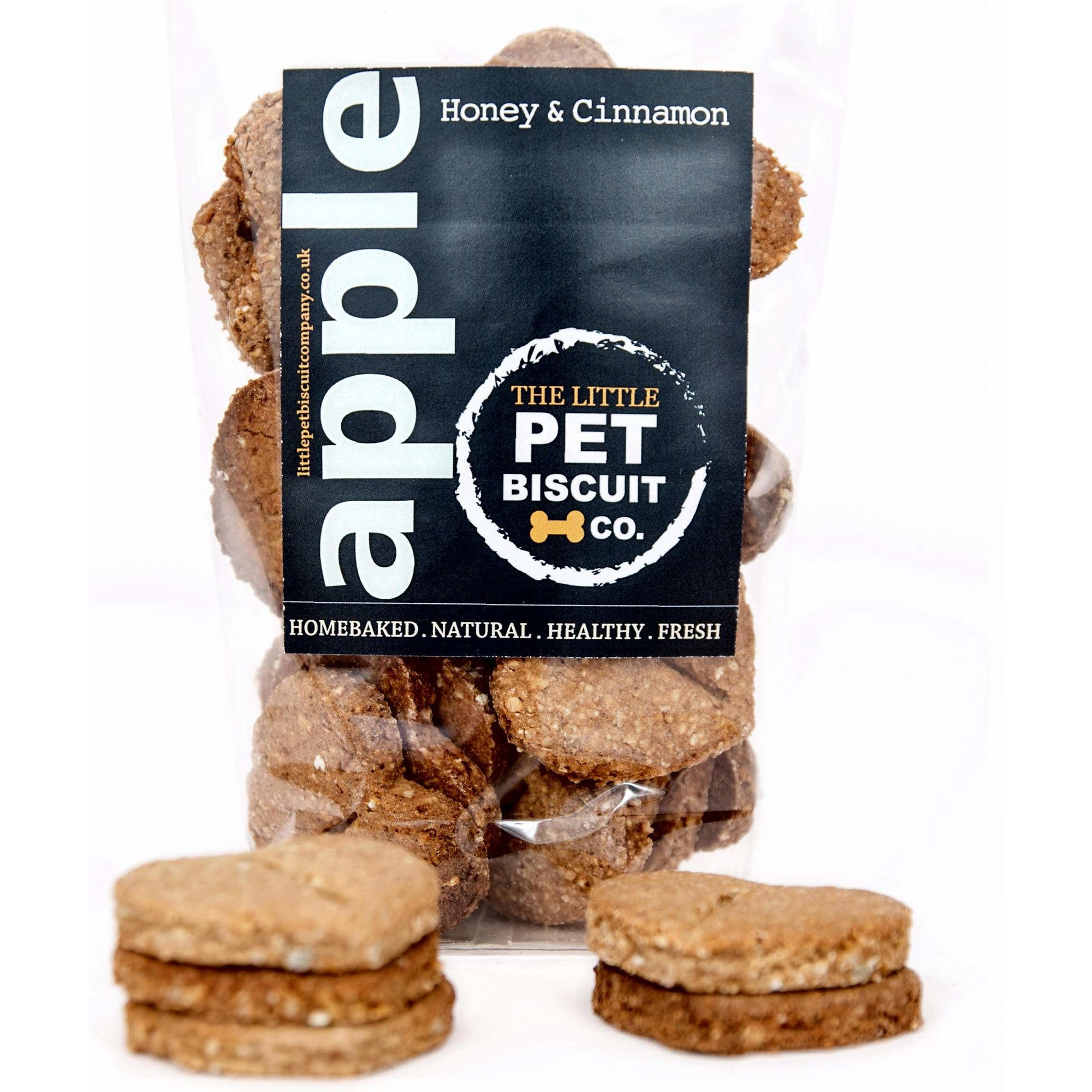 Apple Honey & Cinnamon natural dog biscuits
