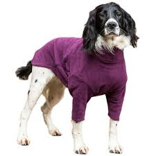 HOTTERdog fleece dog jumper in grape
