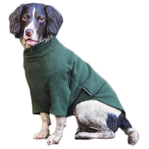 HOTTERdog fleece dog jumper in forest green