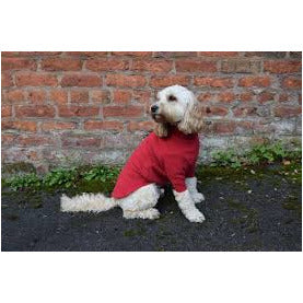 HOTTERdog fleece dog jumper in red