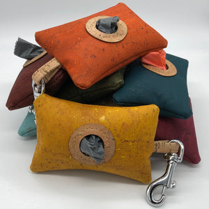 Cork poo bag pouches