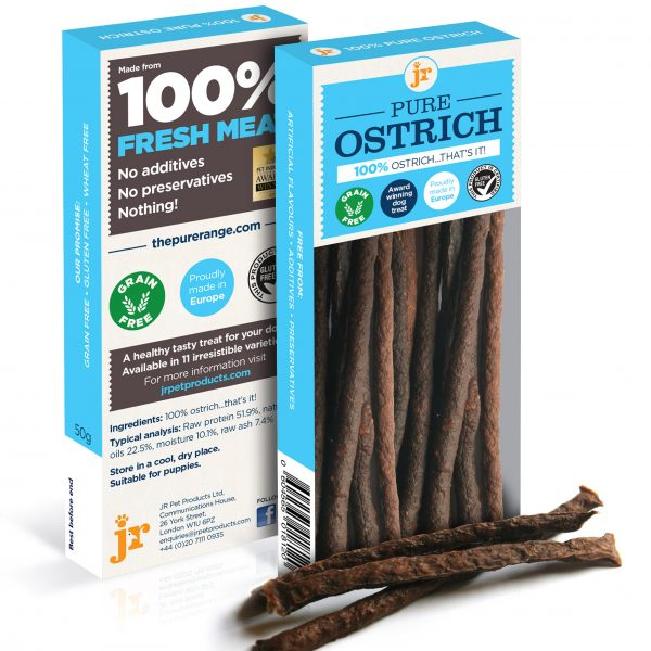 Ostrich dog treats - 100% pure meat