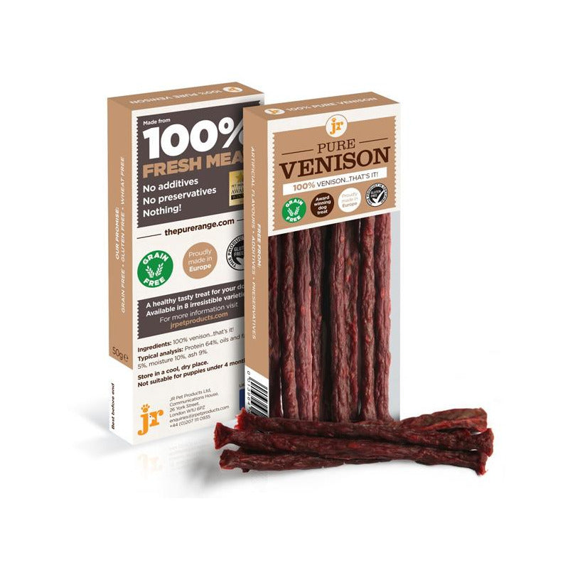 Venison sticks from JR Pet Products