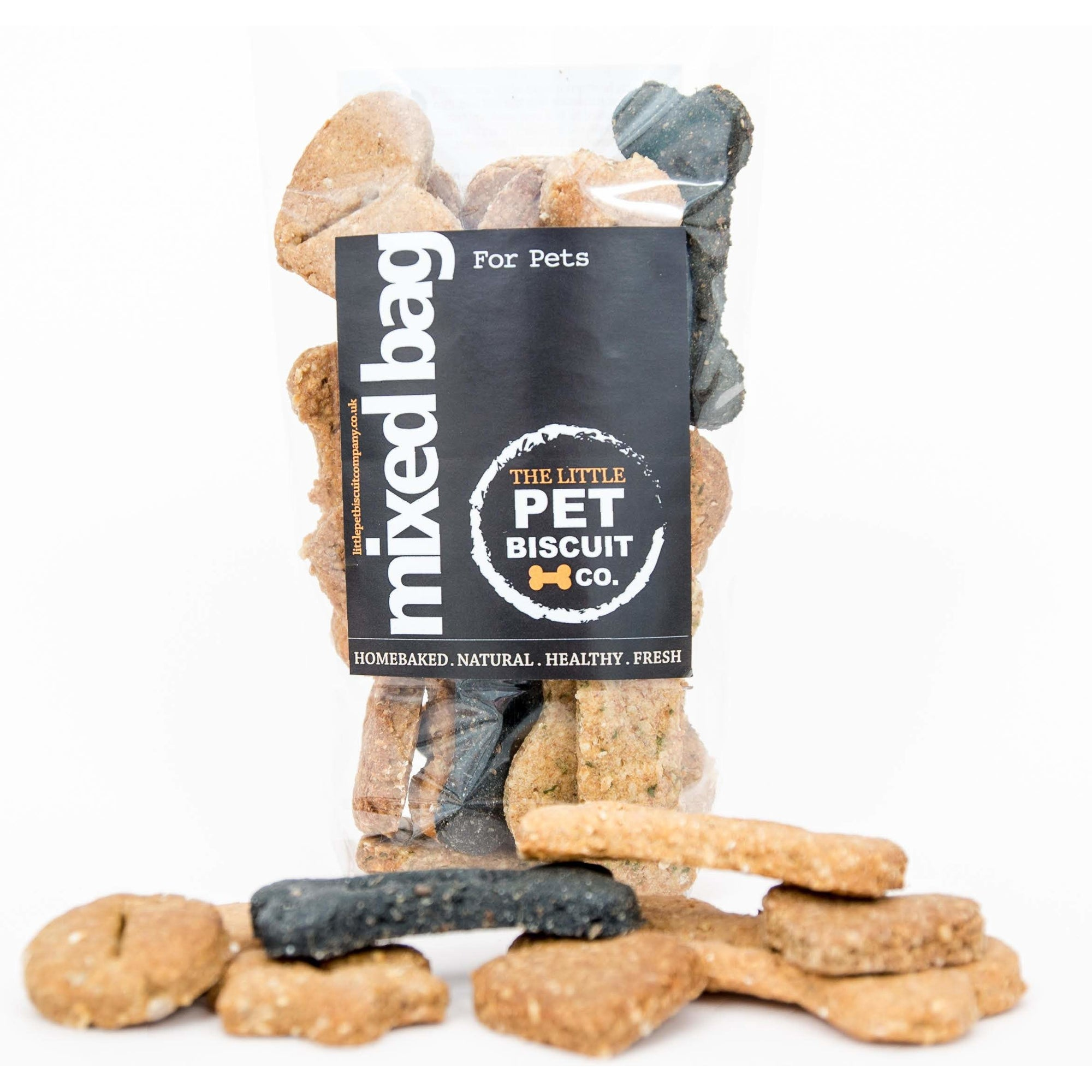 Mixed bag of natural handmade dog biscuits