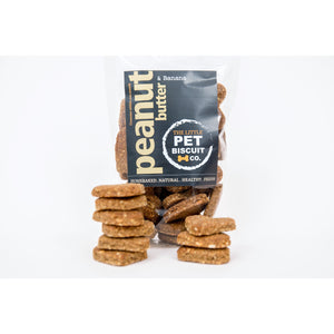 Peanut Butter & Banana natural dog biscuits