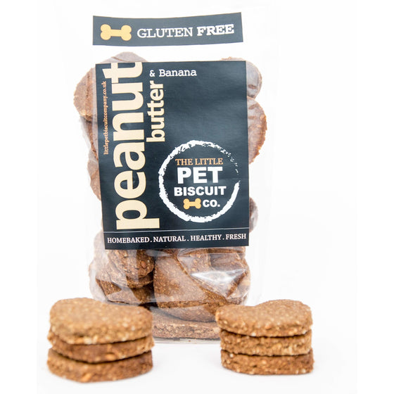 Gluten free peanut butter dog biscuits