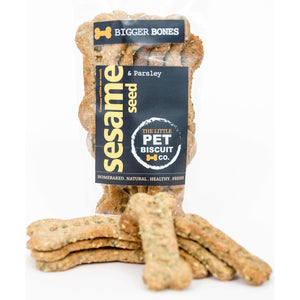 Sesame & Parsley big bone dog biscuits