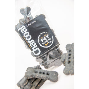 Handmade Charcoal & Aniseed dog biscuit