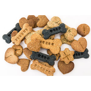 A selection of dog biscuit flavours