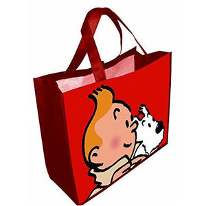 Large Tintin and Snowy shopping bag