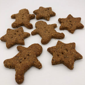 Festive Ginngerbread dog biscuits