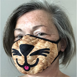 cat themed face mask - ginger