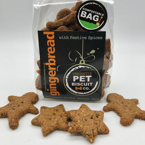 Festive Gingerbread dog biscuits