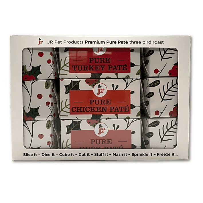 Three bird roast Christmas Crackers for dogs