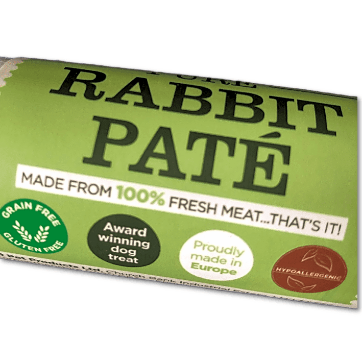 Rabbit Pate for dogs - 100% pure meat treat