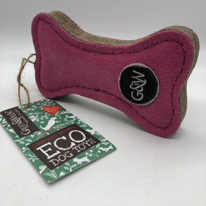 Pinkie bone eco friendly dog toy