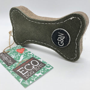 Green bone eco friendly dog toy