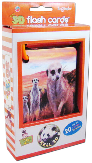 Real 3D Flash Cards - Zoo animals