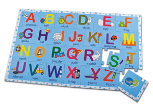 2-sided Alphabet puzzle      (English-Spanish)