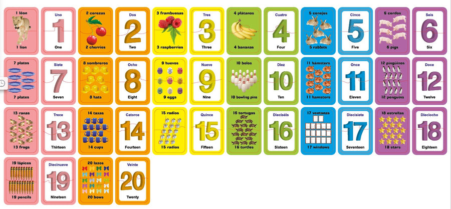 Numbers & Counting Match up puzzle