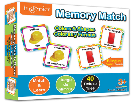 Colors & Shapes Memory Match Game