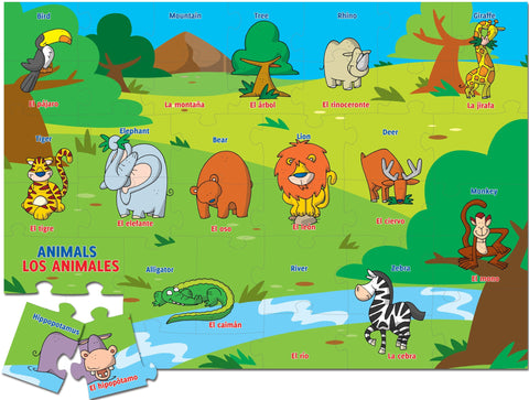 Match-up puzzle - Animals