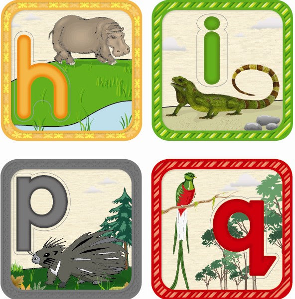 Zafari 2-sided Animal Alphabet Puzzle