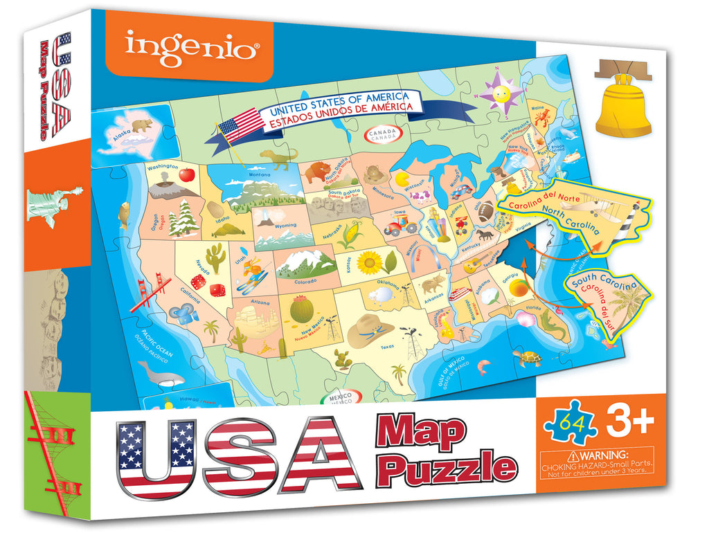 Usa Map Floor Puzzle Smart Play Educational Toys