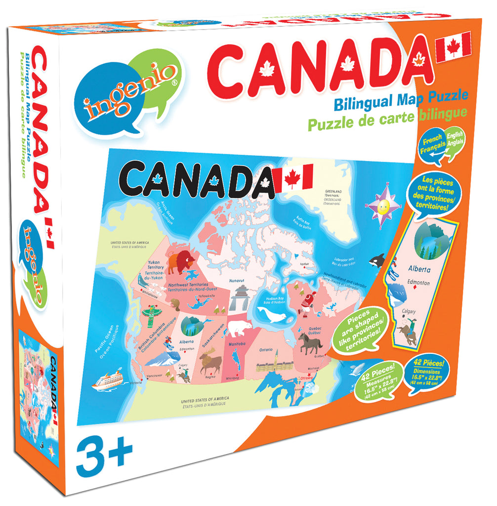 Map Of Canada Puzzle.Canada Map Floor Puzzle Smart Play Educational Toys