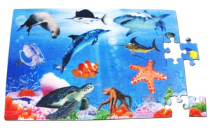 3d Color Inside Puzzle      - At the Aquarium