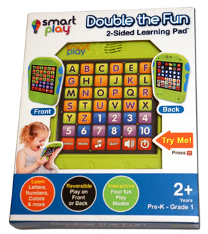 Double the fun - 2 sided Learning Pad