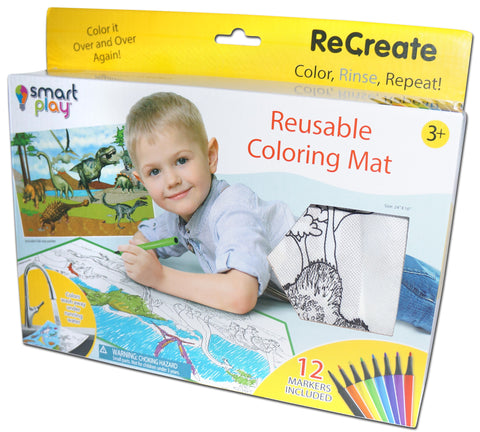 Recreate - Reusable Coloring mat - DINOSAURS