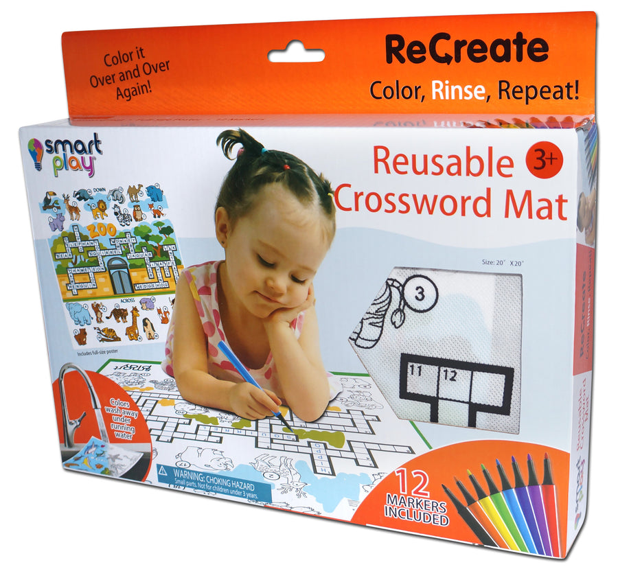 Recreate - Reusable Crossword mat - AT THE ZOO