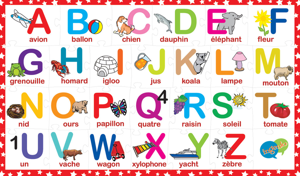 2-sided Alphabet puzzle (English-French) | Smart Play ...