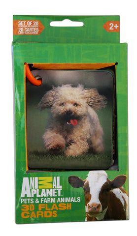 ANIMAL PLANET 3D Flash cards - PETS & FARM ANIMALS